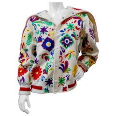 2016 Opening Ceremony Traditional Mexican Embroidery Bomber Jacket