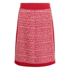 2016s Chanel Fall Red Cashmere Catwalk  Skirt