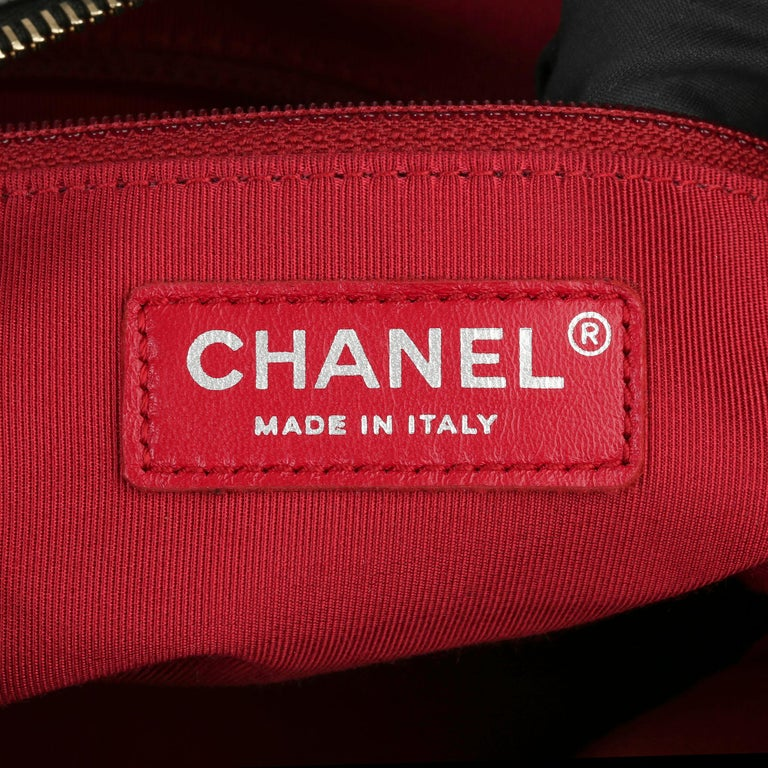 2017 Chanel Black Quilted Aged Calfskin Leather Gabrielle Hobo Bag For Sale 2