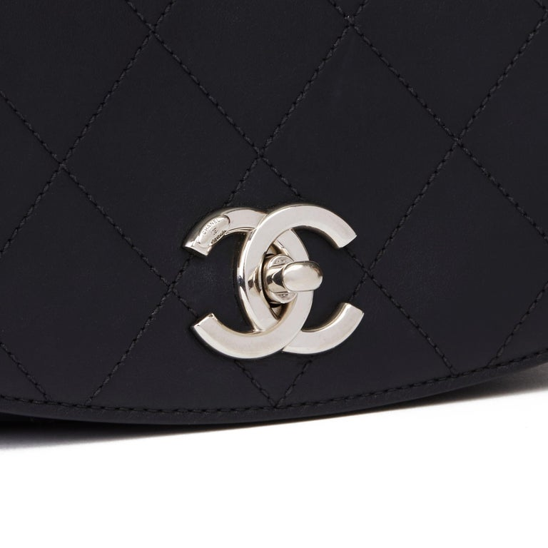 2017 Chanel Black Quilted Calfskin Leather Ring My Bag Flap Bag For Sale 2