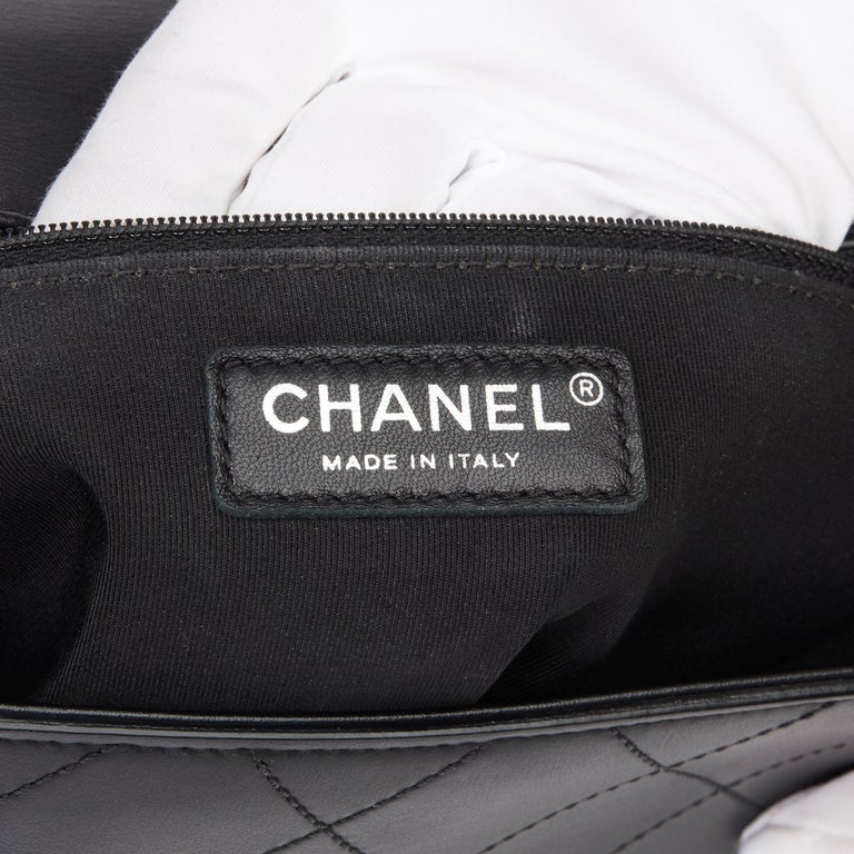 2017 Chanel Black Quilted Calfskin Leather Ring My Bag Flap Bag For Sale 4