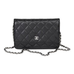 2017 Chanel Black Quilted Lambskin Wallet-on-Chain
