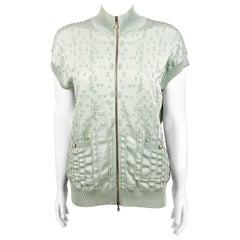 2017 Chanel Pale Green Short-Sleeve Cardigan