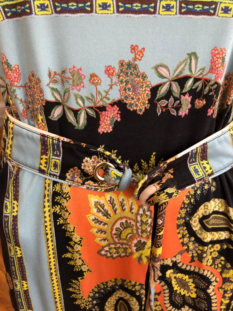 2017 ETRO  Silk Dress with Belt (42 ITL) For Sale 5