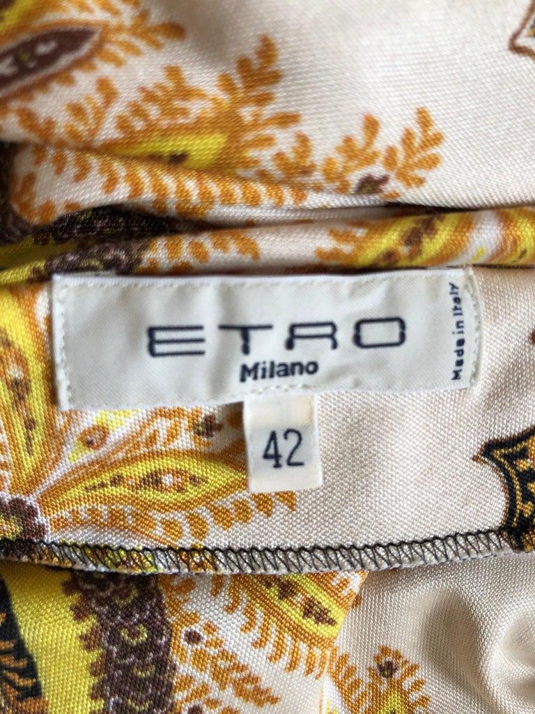 Women's 2017 ETRO  Silk Dress with Belt (42 ITL) For Sale
