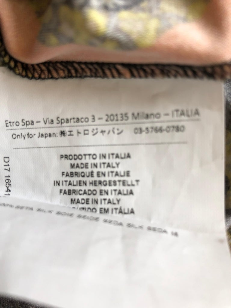 2017 ETRO  Silk Dress with Belt (42 ITL) For Sale 1