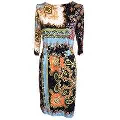 2017 ETRO  Silk Dress with Belt (42 ITL)