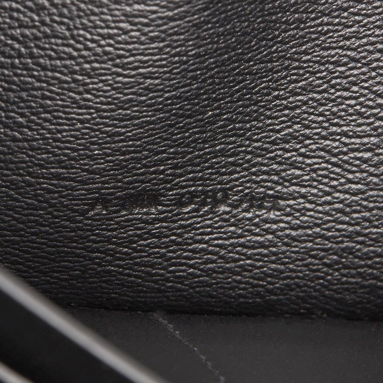 2017 Hermès Black Matte Mississippiensis Alligator Leather Kelly Long Wallet 4