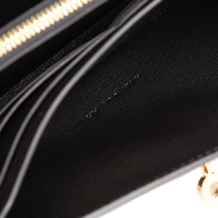 2017 Hermès Black Shiny Mississippiensis Alligator Leather Kelly Long Wallet  For Sale 4