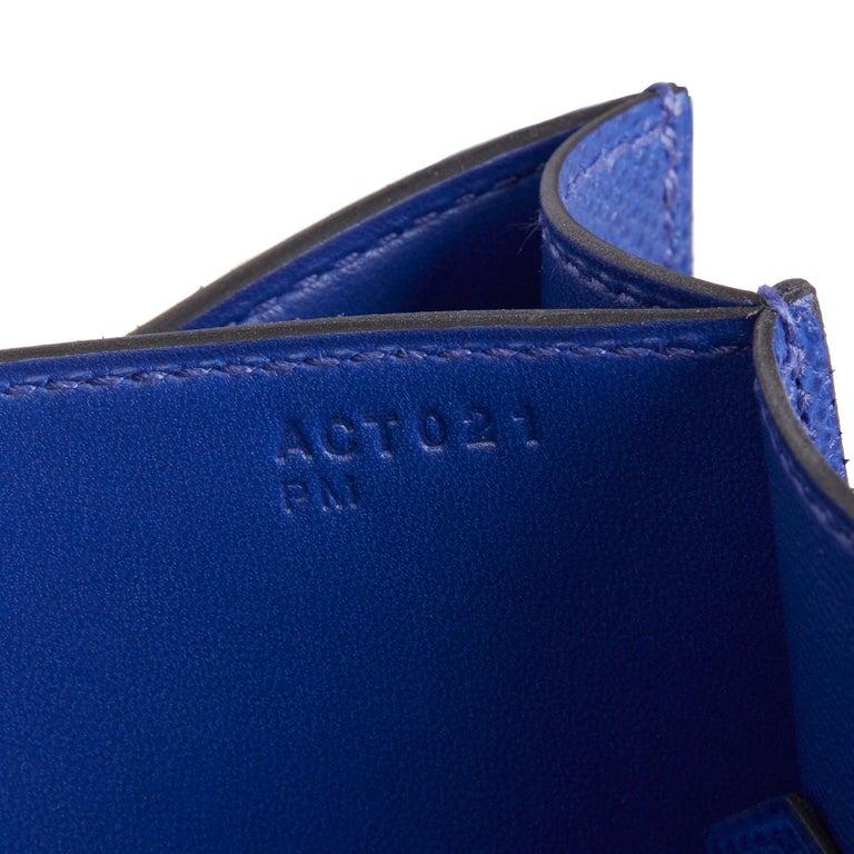 2017  Hermès Blue Electric Epsom Leather Constance 23cm For Sale 6