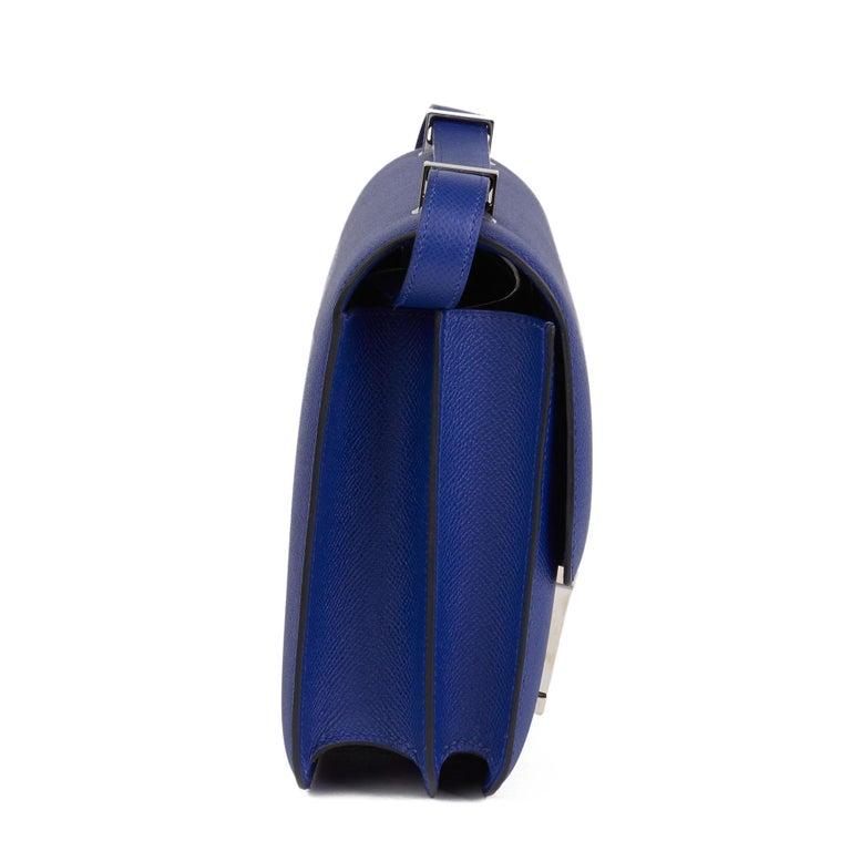 2017  Hermès Blue Electric Epsom Leather Constance 23cm In Excellent Condition For Sale In Bishop's Stortford, Hertfordshire