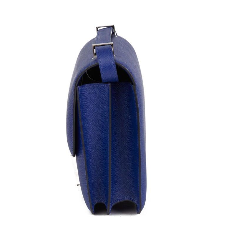 Women's 2017  Hermès Blue Electric Epsom Leather Constance 23cm For Sale