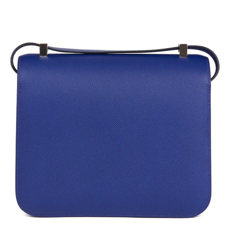 2017  Hermès Blue Electric Epsom Leather Constance 23cm For Sale 1