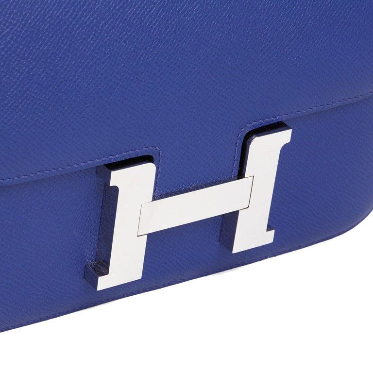 2017  Hermès Blue Electric Epsom Leather Constance 23cm For Sale 3