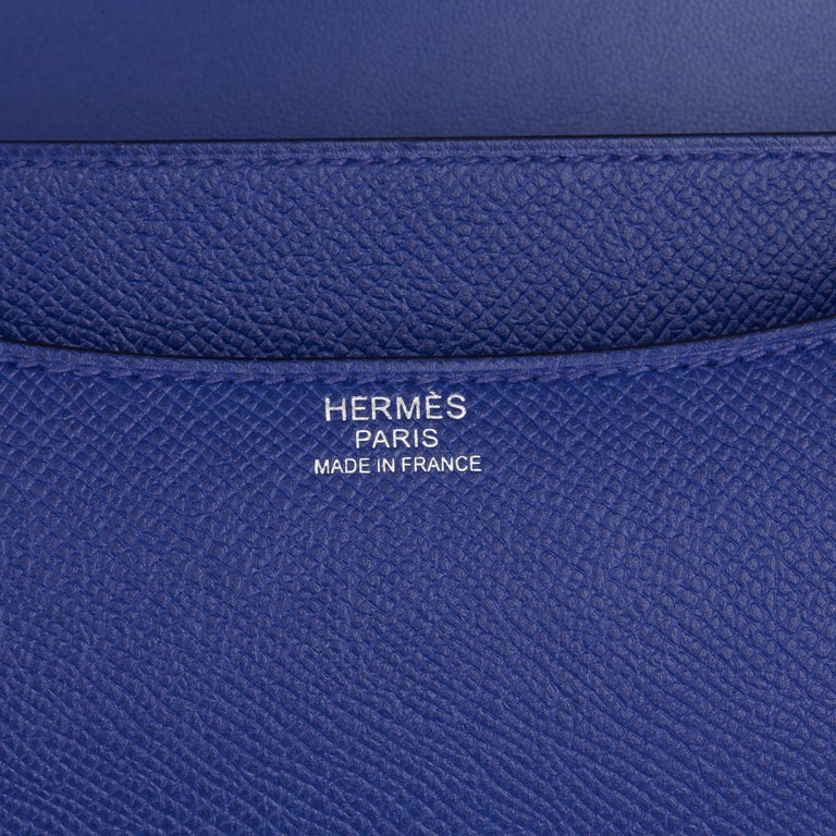 2017  Hermès Blue Electric Epsom Leather Constance 23cm For Sale 5