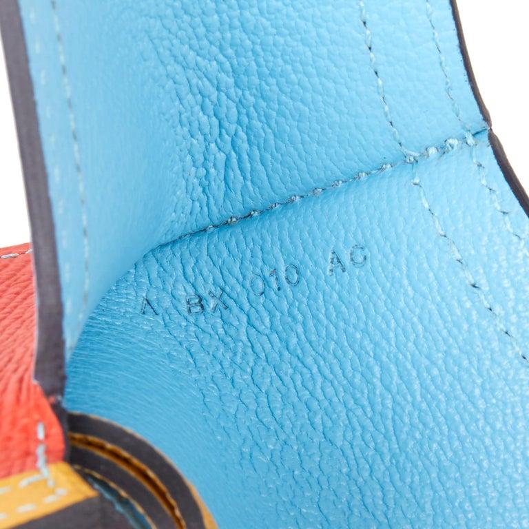 Orange 2017 Hermès Celeste, Capucine & Ambre Epsom Leather Camail Key Holder Charm  For Sale