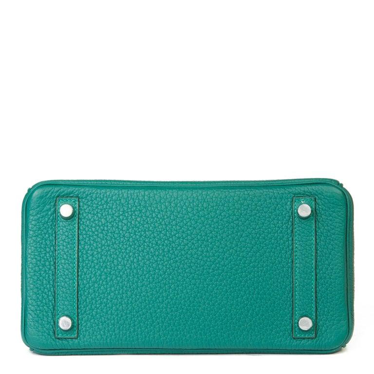 2017 Hermès Malachite Togo Leather Birkin 25cm For Sale 1