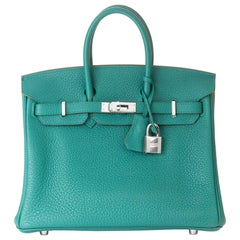 2017 Hermès Malachite Togo Leather Birkin 25cm