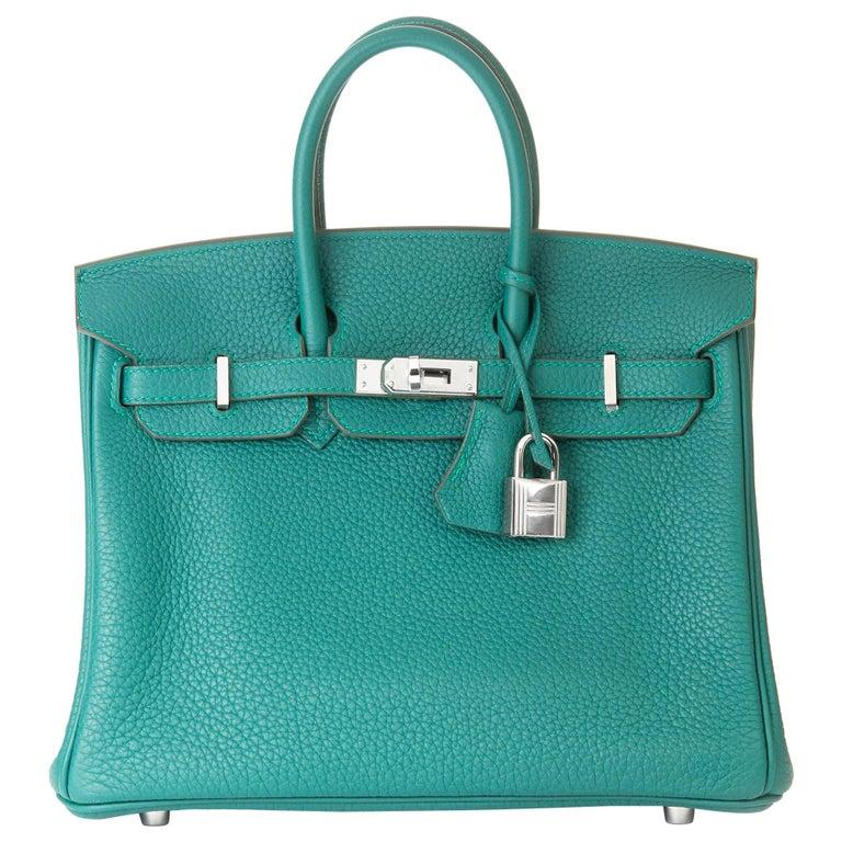 2017 Hermès Malachite Togo Leather Birkin 25cm For Sale