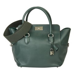 2017 Hermès Vert Anglais Evercolour Leather Toolbox 26cm