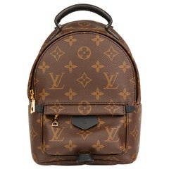 2017 Louis Vuitton Brown Monogram Coated Canvas Mini Palm Springs Backpack