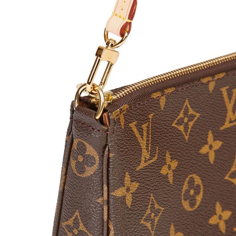 2017 Louis Vuitton Brown Monogram Coated Canvas Pochette Accessoires For Sale 7