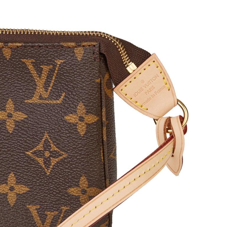 2017 Louis Vuitton Brown Monogram Coated Canvas Pochette Accessoires For Sale 3