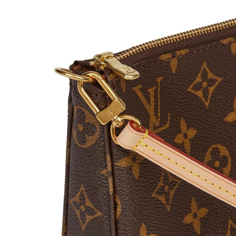 2017 Louis Vuitton Brown Monogram Coated Canvas Pochette Accessoires For Sale 4