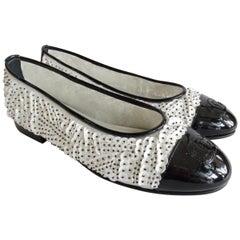 "2017 S/S Chanel ""CC"" Sequin Ballet Flats"