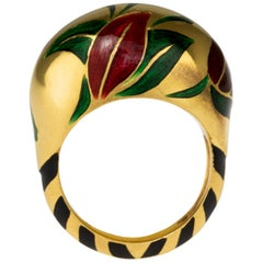 2018 Alice Cicolini Jaipur Bougainvillea Boulle Ring