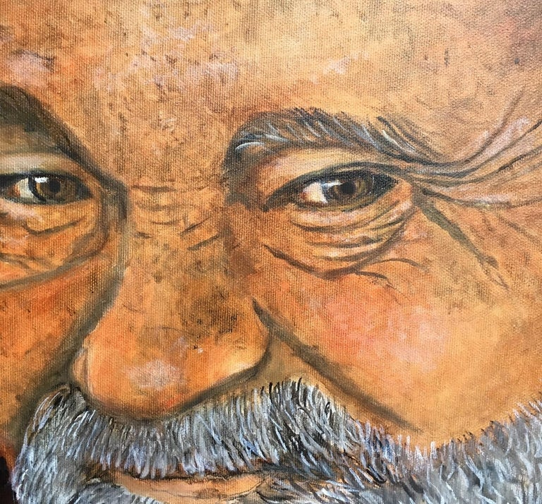 Contemporary, figurative, surrealistic oil on canvas painting by the Danish painter Bente Ørum, 2018.