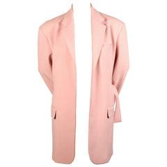 2018 CELINE by PHOEBE PHILO oversized salmon pink wool runway blazer