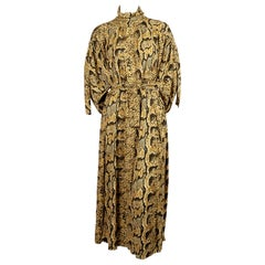 2018 CELINE by PHOEBE PHILO reptile printed oversized dress