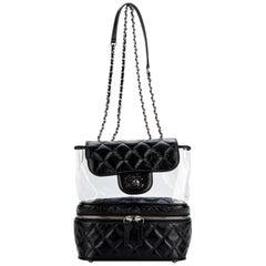 2018 Chanel Black Leather & PVC Shoulder Bag
