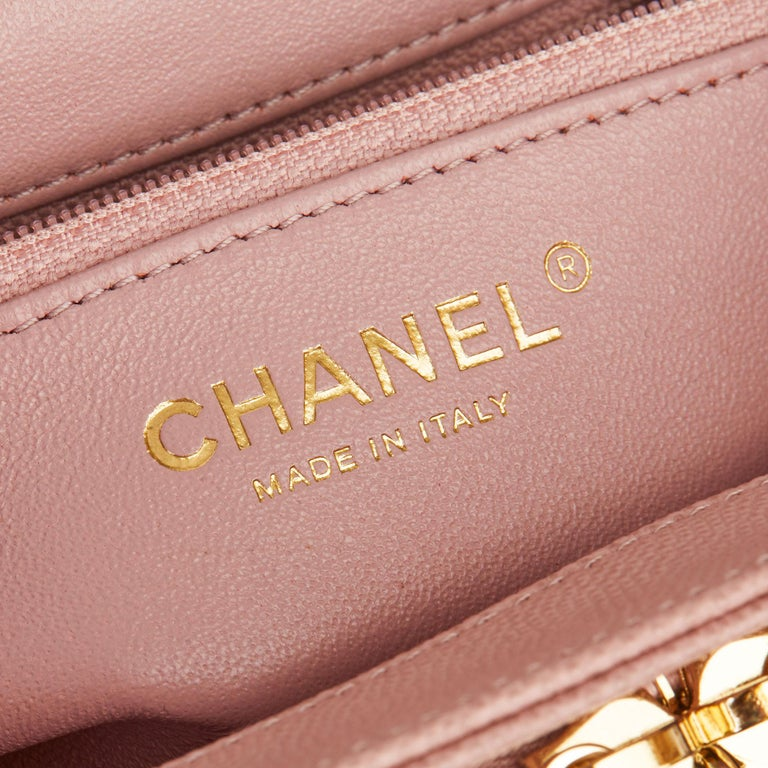 2018 Chanel Light Dusky Pink Quilted Caviar Medium Business Affinity Flap Bag For Sale 6