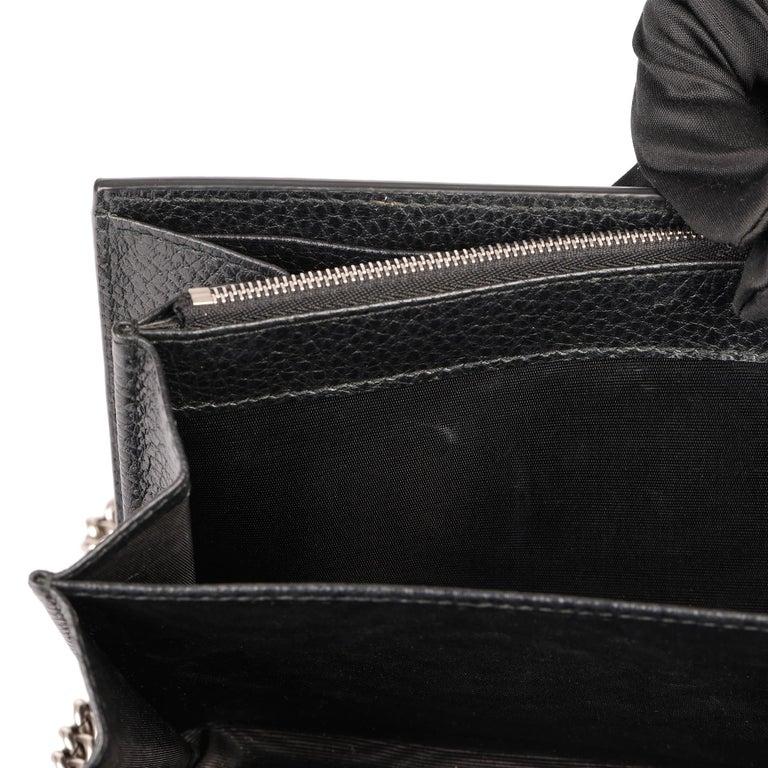 2018 Gucci GUCCI Black Grained Calfskin Mini Dionysus  For Sale 11