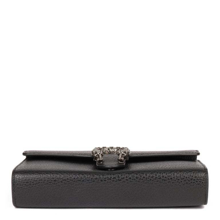 2018 Gucci GUCCI Black Grained Calfskin Mini Dionysus  For Sale 2