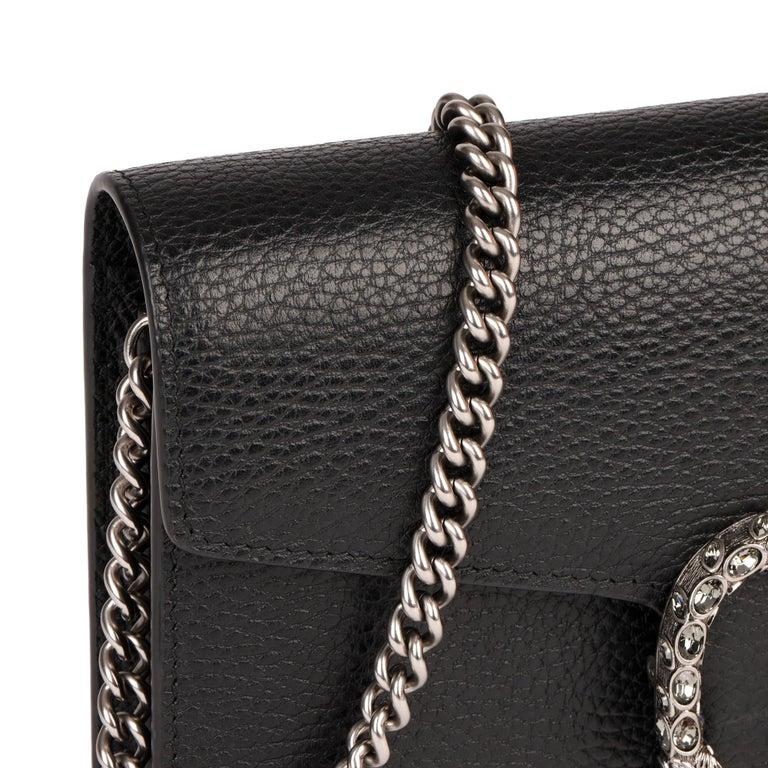 2018 Gucci GUCCI Black Grained Calfskin Mini Dionysus  For Sale 5