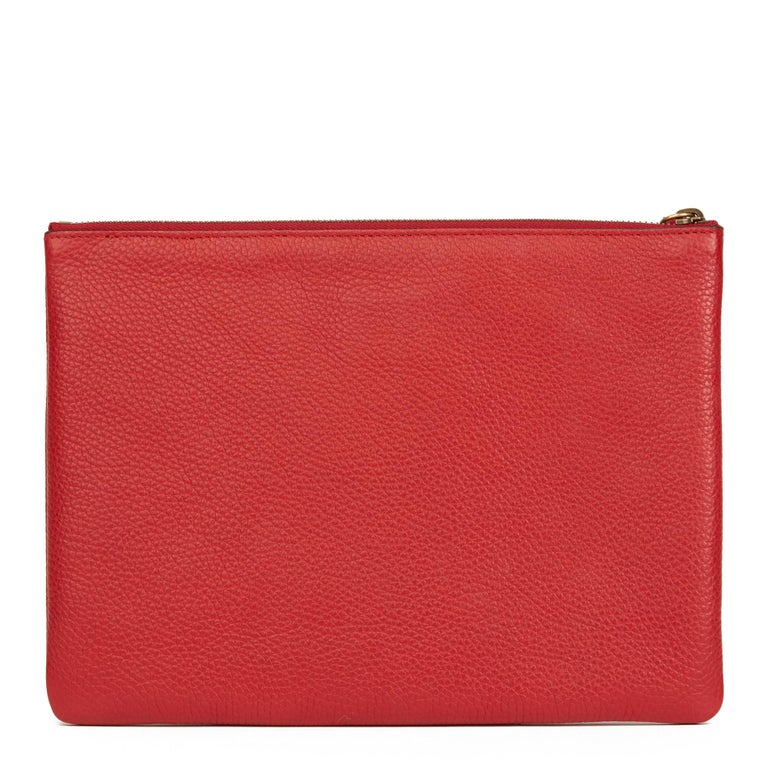 Women's 2018 Gucci Red Calfskin Leather 'Blind For Love' Pouch For Sale