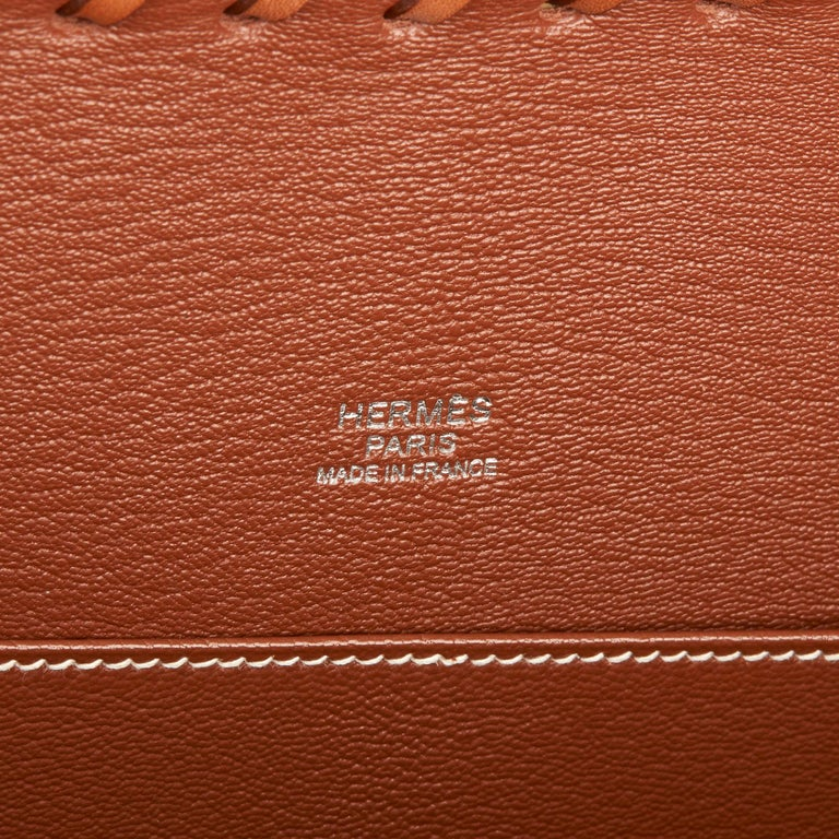 2018 Hermès Barenia Leather & Wicker Kelly 35cm Picnic For Sale 3