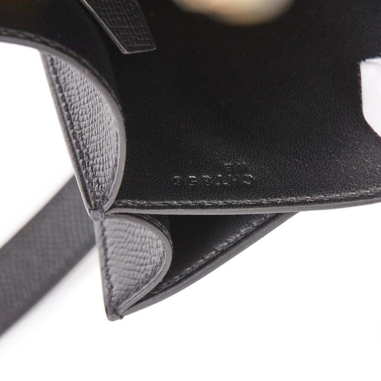 2018 Hermès Black Epsom Leather Constance 24 For Sale 6
