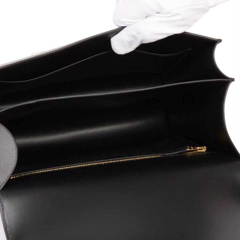 2018 Hermès Black Epsom Leather Constance 24 For Sale 7