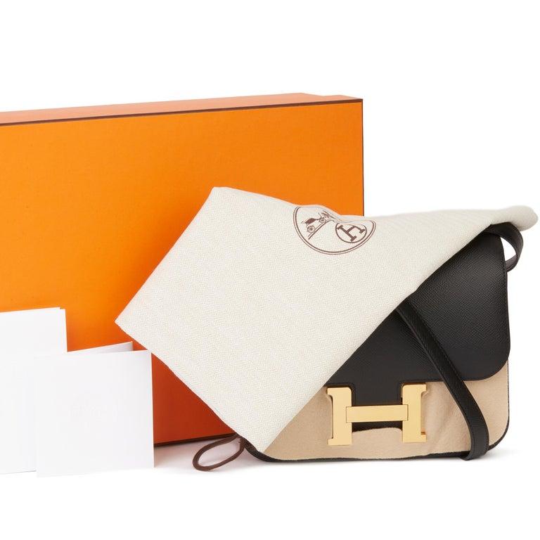 2018 Hermès Black Epsom Leather Constance 24 For Sale 8