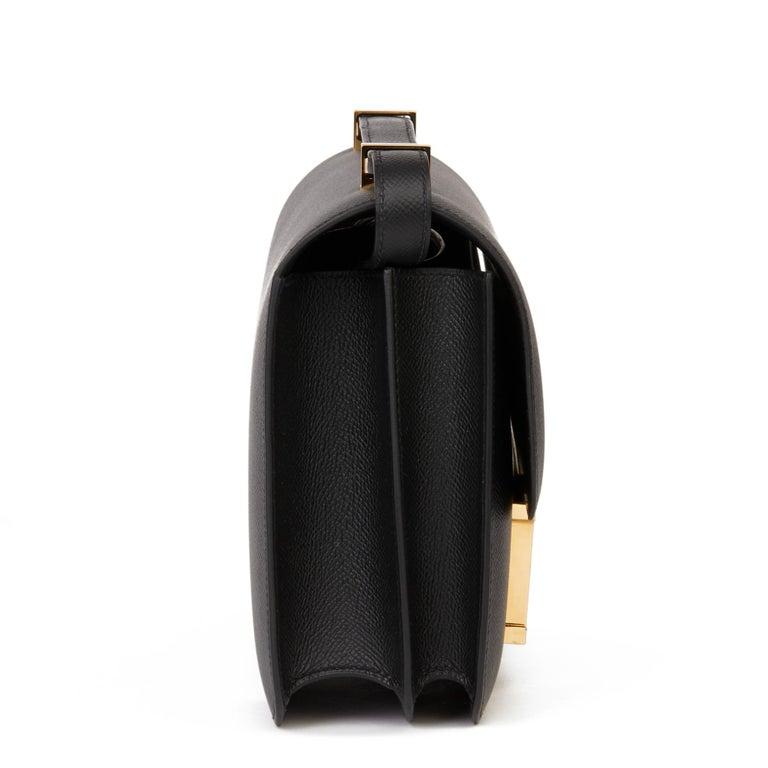 2018 Hermès Black Epsom Leather Constance 24 In New Condition For Sale In Bishop's Stortford, Hertfordshire