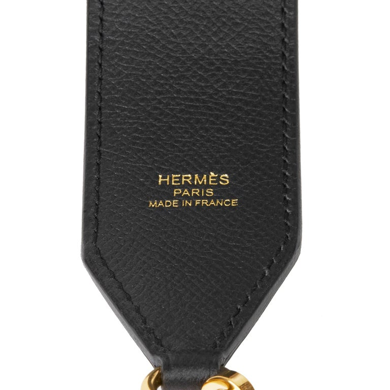 HERMÈS Black, Lime & Malachite Epsom Leather Tressage 40mm Bag Strap  Xupes Reference: SKHB015 Serial Number: C Age (Circa): 2018 Accompanied By: Hermès Dust Bag, Box Authenticity Details: Date Stamp (Made in France) Gender: Ladies Type: