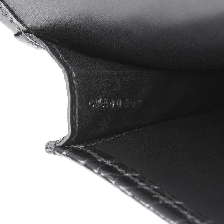 2018 Hermès Black Shiny Mississippiensis Alligator Leather Jige 29 For Sale 5