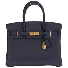 2018  Hermès  Blue Nuit Togo Leather Birkin 30cm