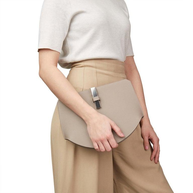2018 Hermès Gris Asphalte Epsom Leather Pochette Baton De Craie For Sale 6