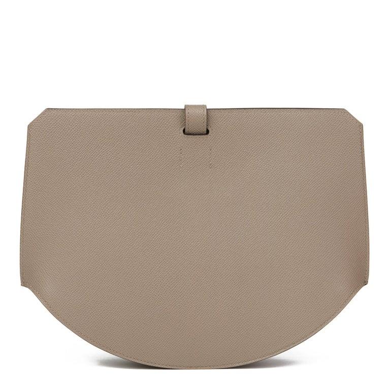 2018 Hermès Gris Asphalte Epsom Leather Pochette Baton De Craie In New Condition For Sale In Bishop's Stortford, Hertfordshire