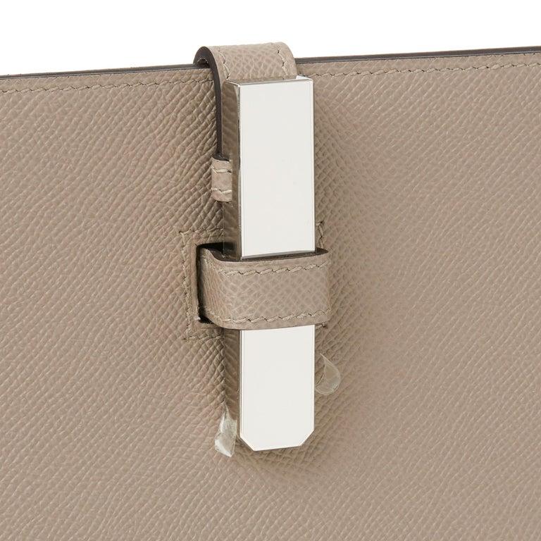 2018 Hermès Gris Asphalte Epsom Leather Pochette Baton De Craie For Sale 1